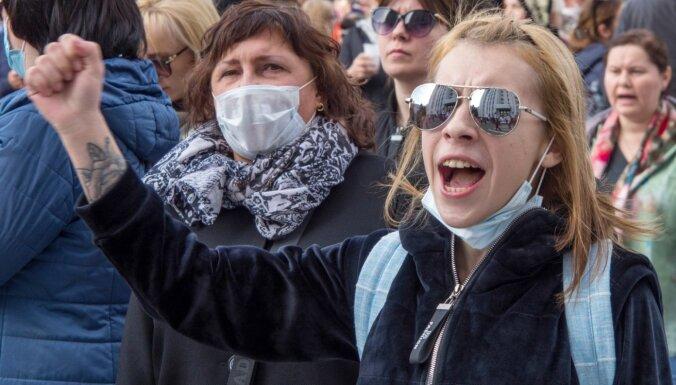 Demonstrācijā Habarovskā pauž atbalstu aizturētajam eksgubernatoram