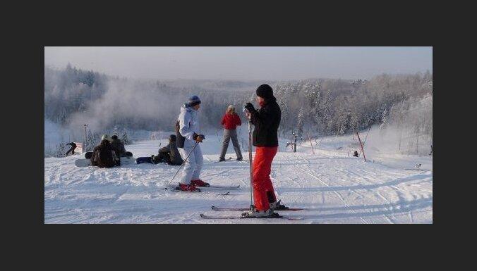 В Латвии еще продолжается горнолыжный сезон