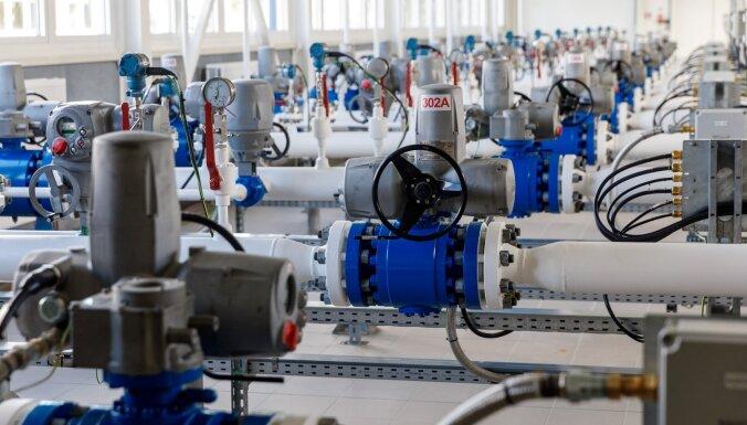 Foto: Par 23 miljoniem eiro pārbūvēts Inčukalna gāzes savākšanas punkts