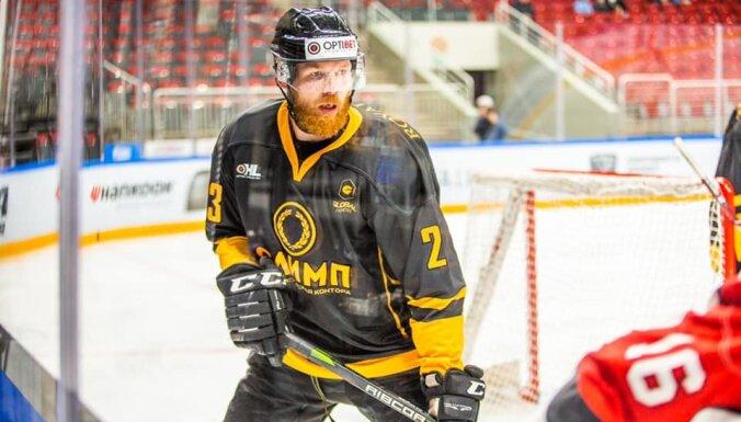 """Jerofejeva vārti OHL spēlē 'Arēnā Rīga"""" atnes 'Olimp' komandai uzvaru"""