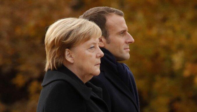 """Меркель заявила, что не разделяет взгляды Макрона на """"смерть мозга"""" НАТО"""