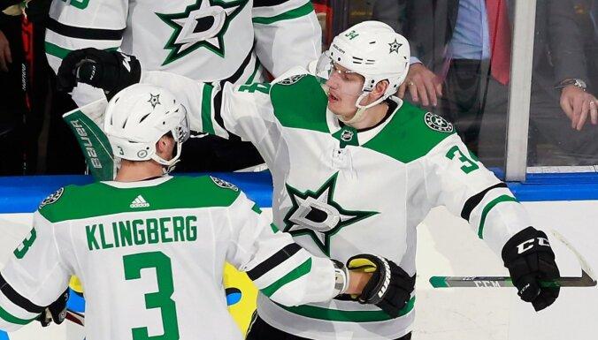 Gurjanovs ar 4+1 ieved 'Stars' nākamajā kārtā; 'Islanders' izslēdz 'Capitals' un Ovečkinu