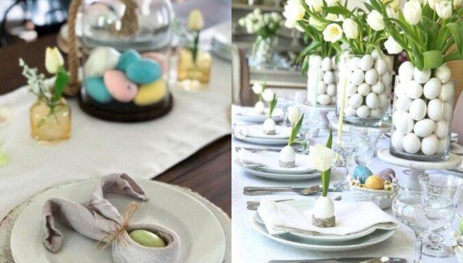 Salvešu locīšanas paraugi un dekoratores ieteikumi – idejas radošam Lieldienu galdam