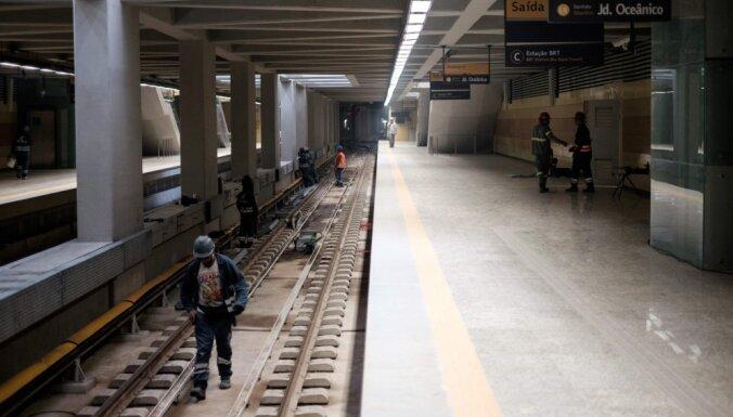 Riodežaneiro metro darbinieki draud ar streiku pirms olimpiādes atklāšanas