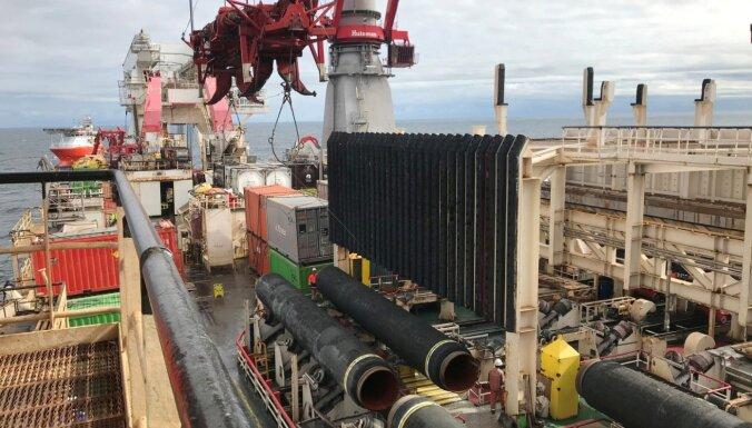 Krievija plāno pabeigt 'Nord Stream 2' būvniecību, neskatoties uz ASV sankcijām