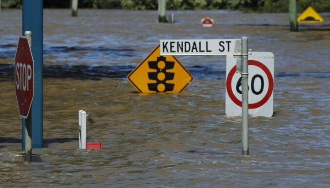 Austrālijas plūdi paņem pirmo upuri