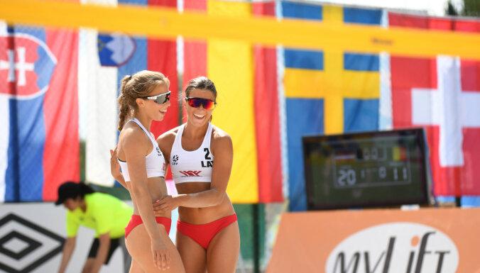 Латвийские волейболистки Брайлко/Намике выиграли чемпионат Европы среди девушек до 20 лет