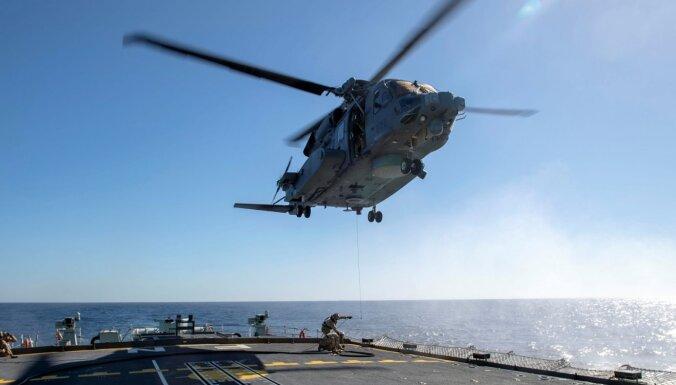Kanādas militārā helikoptera avārijā gājis bojā viens un pazuduši pieci cilvēki