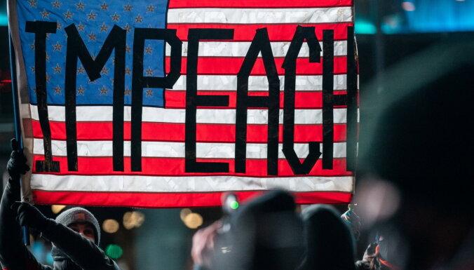 Vairāk nekā 200 Kongresa deputātu pauduši atbalstu Trampa atstādināšanai