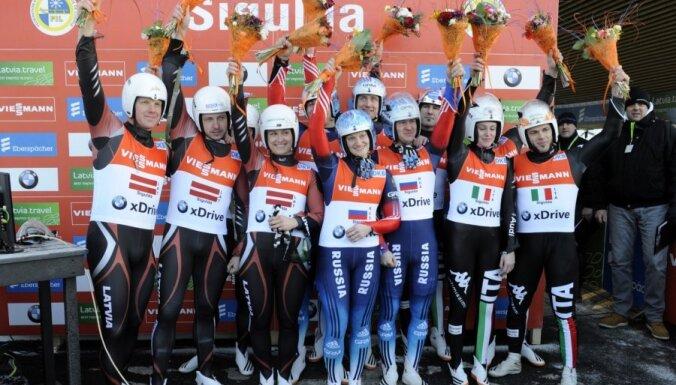 У Латвии — серебро чемпионата Европы в эстафете, у России — золото