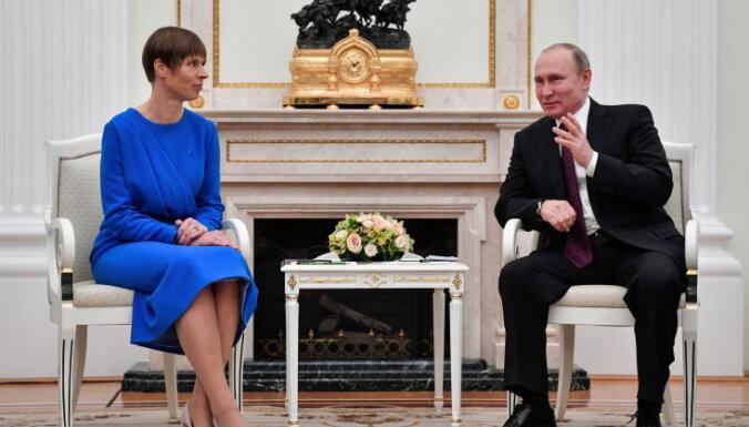 Путин рассказал Кальюлайд, что объединяет Россию и Эстонию
