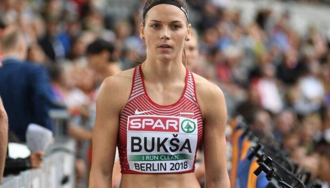 Bukšai pietrūkst divu sekundes simtdaļu līdz Latvijas rekordam 60 metros