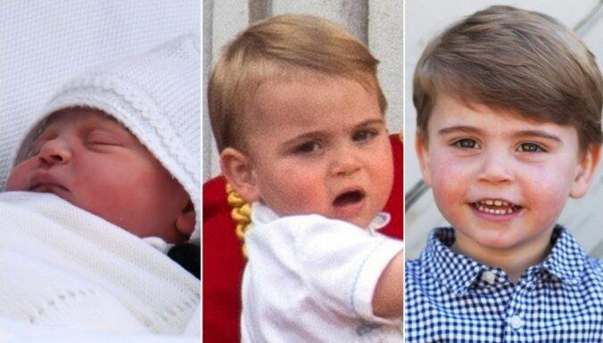 Foto: Kā paaudzies britu karaliskais ķipars princis Luiss