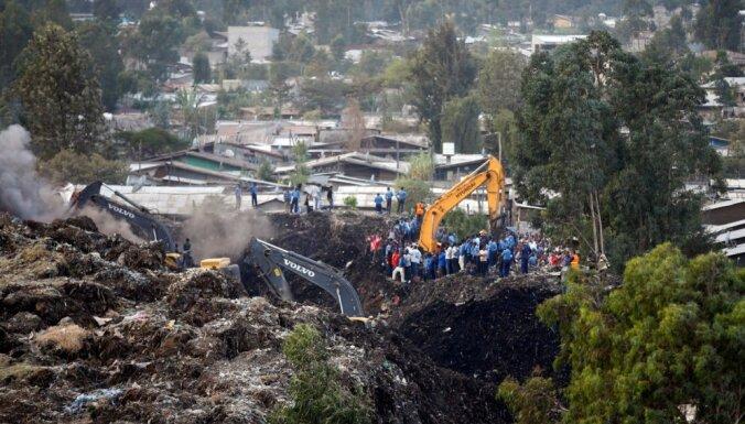 Atkritumu kalna nogruves dēļ Etiopijā bojā gājuši jau 113 cilvēki