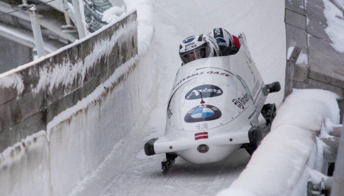 Два латвийских экипажа — в шестерке лучших на чемпионате мира по бобслею