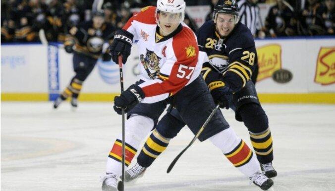 NHL drafta izlozē uzvar 'Panthers'; Girgensona 'Sabres' iegūst otro numuru