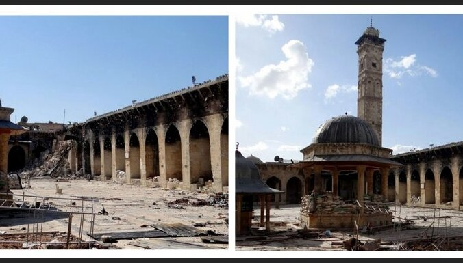 Sīrijā sagrauts slavens 11. gadsimta minarets