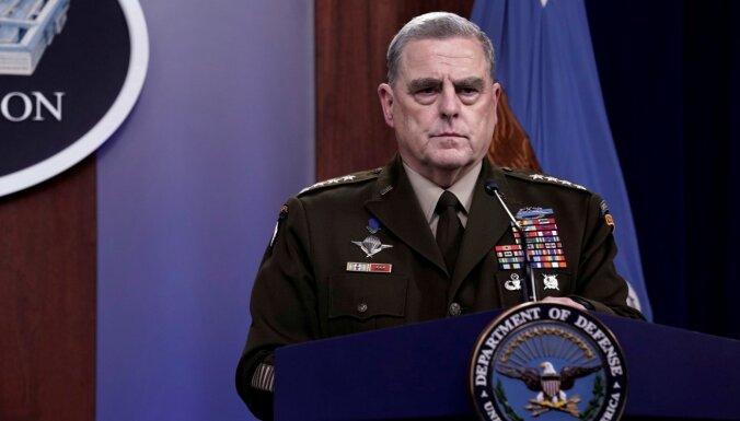 ASV ģenerālis Milijs aizstāv slepenos kontaktus ar Ķīnu