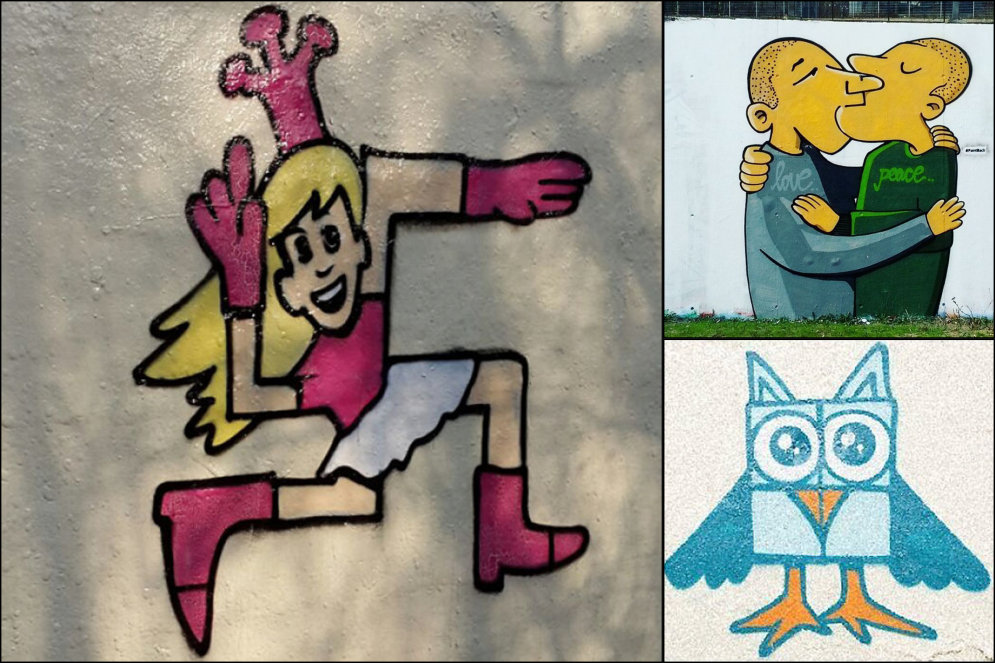 ФОТО. Как превратить свастику на заборе в красивое граффити? Топ-11 вдохновляющих идей