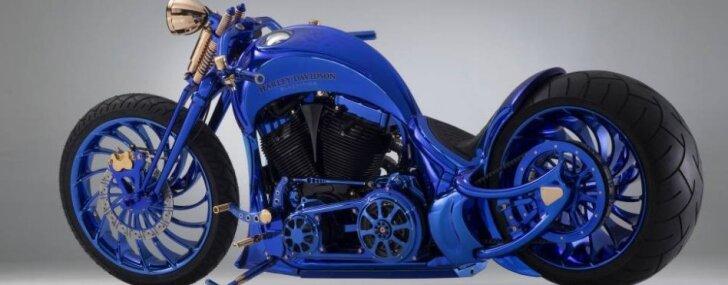 Visdārgākais motocikls pasaulē – pārbūvēts 'Harley-Davidson' par pusotru miljonu eiro