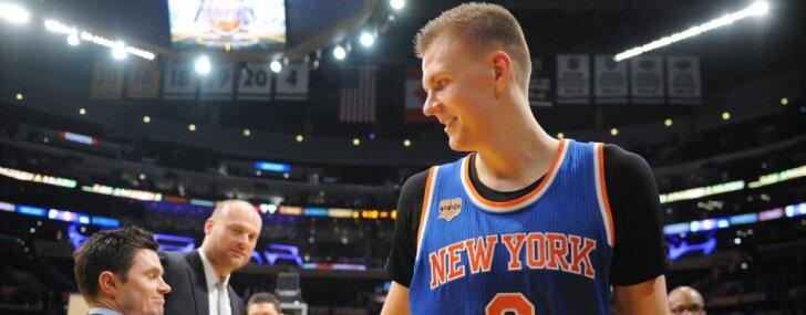 New York Knicks forward Kristaps Porzingis