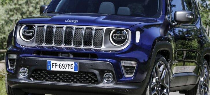 Modernizētais 'Jeep Renegade' ieguvis viena litra motoru