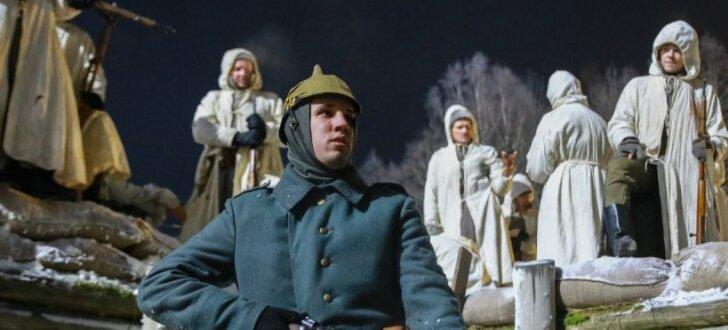 Uzsākta kara drāmas 'Dvēseļu putenis' Ziemassvētku kauju ainu filmēšana