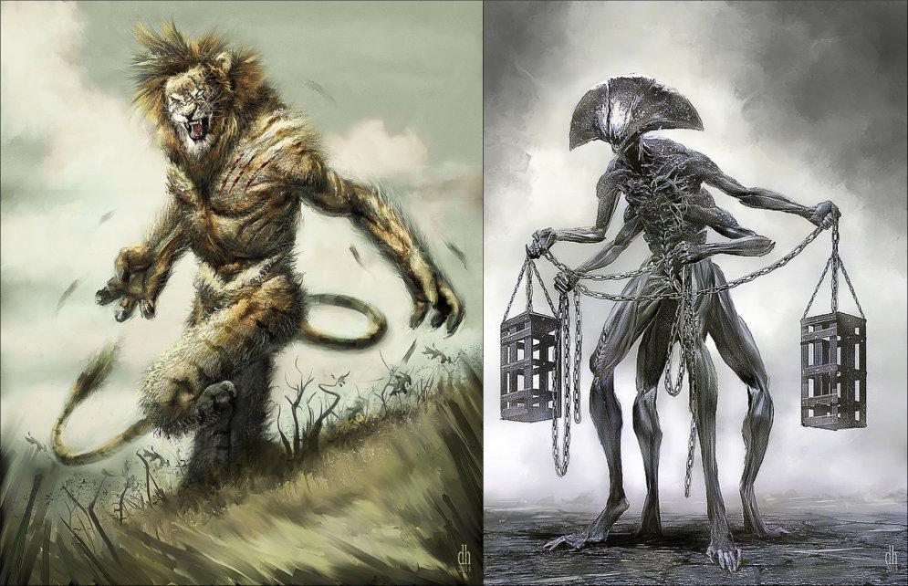 Visas 12 zodiaka zīmes atdzimušas briesmoņu un monstru izskatā