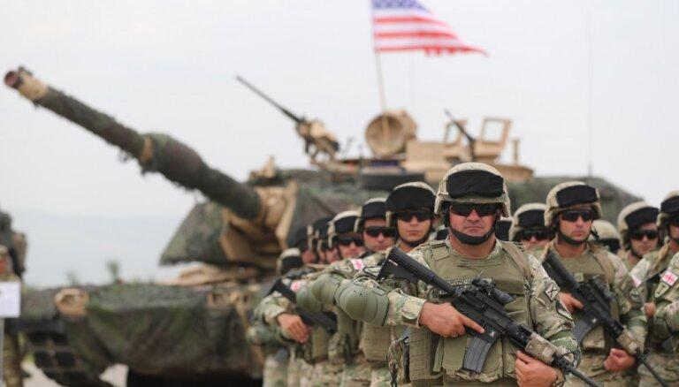 Gruzijā sākas vērienīgi manevri kopā ar NATO spēkiem
