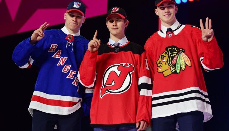 'Devils' NHL draftā ar pirmo numuru izvēlas Hjūzu; Kako nonāk 'Rangers' paspārnē
