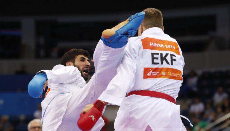 ВИДЕО: Каратист Калниньш принес Латвии второе золото на Европейских играх