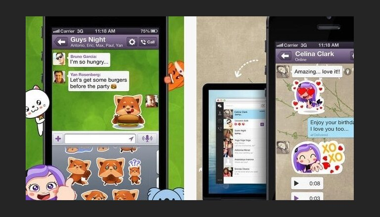Par 900 miljoniem dolāru pārdota 'Viber' saziņas aplikācija