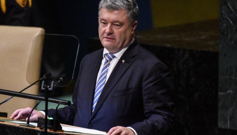 Porošenko ierosina atņemt Krievijai veto tiesības ANO DP