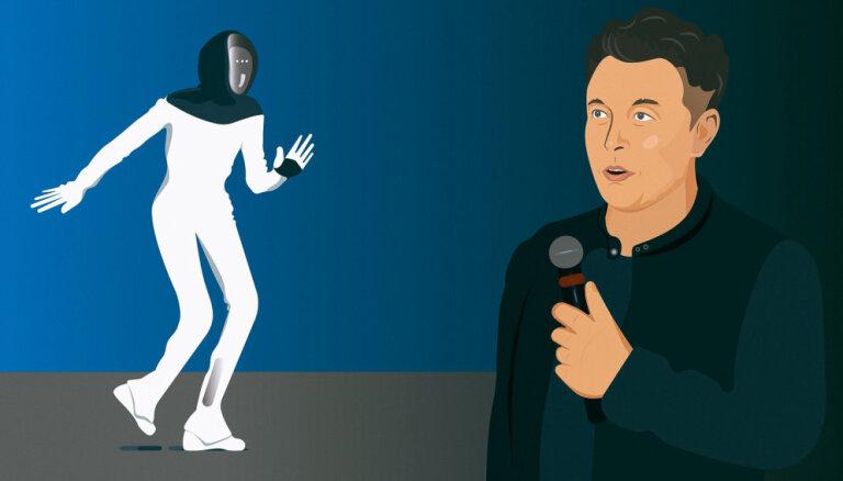 Tāds, lai var aizbēgt. Vai Maska humanoīdais 'teslabots' ir tikai joks?