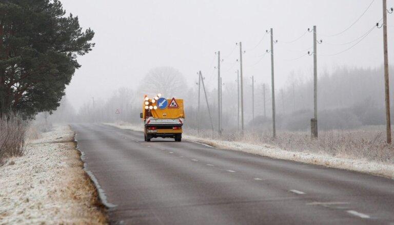Apledojums vietām Latvijā apgrūtina braukšanu