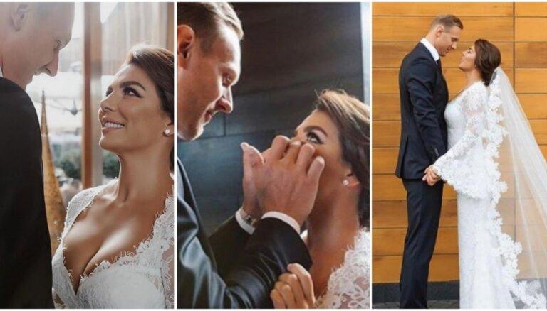 ФОТО: Латвийский баскетболист Янис Тимма женился на певице Анне Седоковой