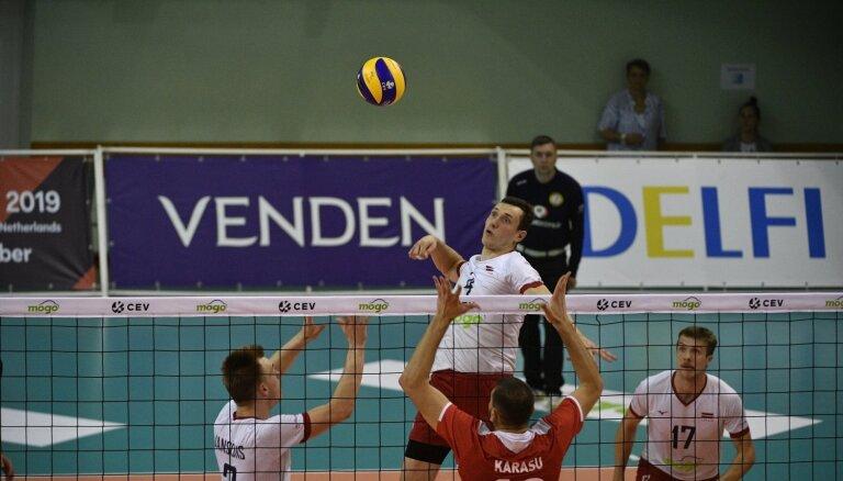 Latvijas volejbolisti ar bālu sniegumu noslēdz Zelta līgas spēles