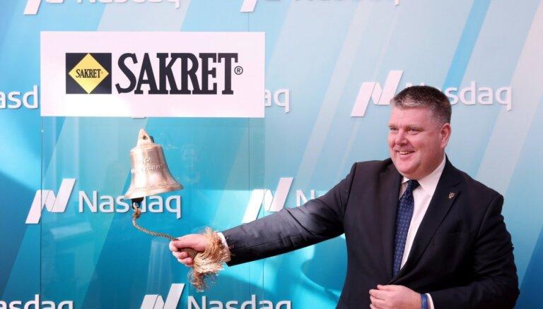 'Sakret Holdings' obligācijas iekļauj 'Nasdaq Riga' Baltijas 'First North' tirgū