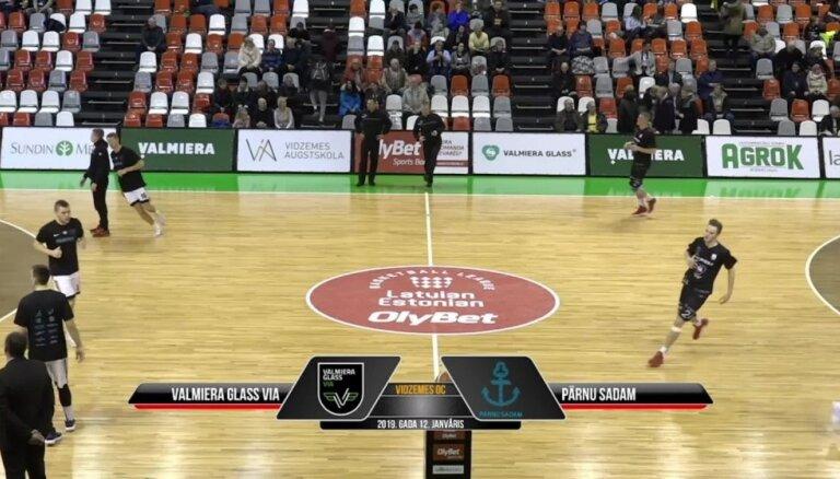 'OlyBet' basketbola līga: 'Valmiera glass/ViA' - 'Parnu Sadam'. Spēles labākie momenti