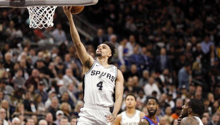 Bertāns un 'Spurs' izvirzās vadībā sērijā pret 'Nuggets'; Kurucs un 'Nets' nonāk iedzinējos