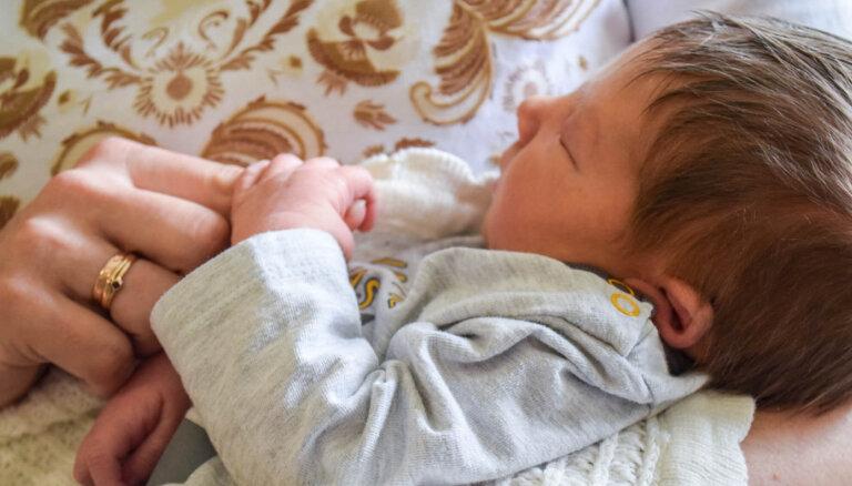 В Кулдиге появился на свет самый крупный новорожденный за последний год