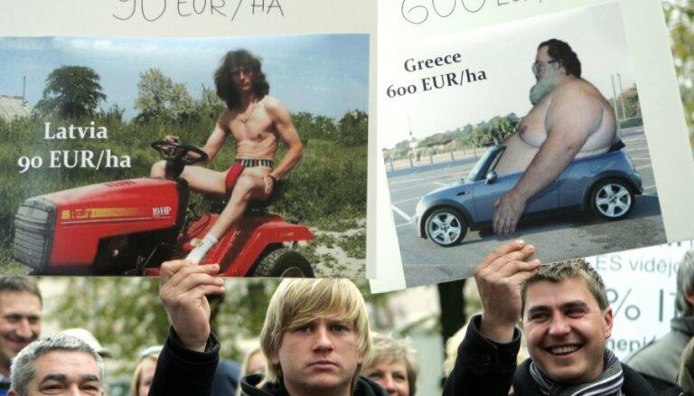 Latvijas zemnieki saziedojuši 12 tūkstošus latu cīņai par taisnīgiem ES tiešmaksājumiem