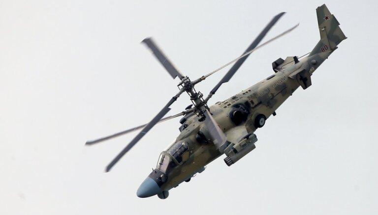 Во время учений российский вертолет Ка-52 случайно выпустил ракету