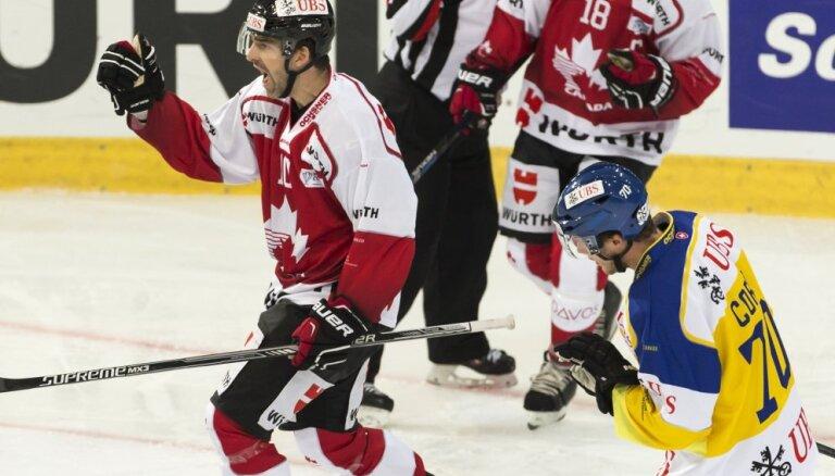 ВИДЕО: Мерзликин забил себе после броска Кулды, экс-динамовец Риги принес победу Канаде