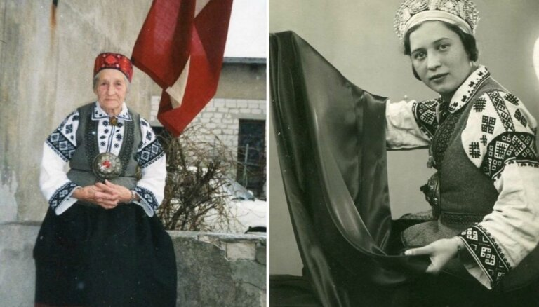 Foto no 'Gadsimta albuma'. Dzimtas relikvija – Bārtas tautastērps – cauri laikiem