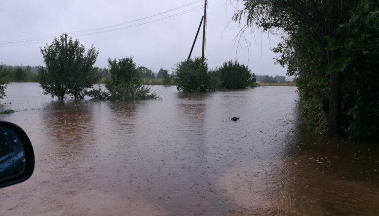 Rēzeknes un Ošas upē ūdens līmenis sasniedzis augusta rekordu