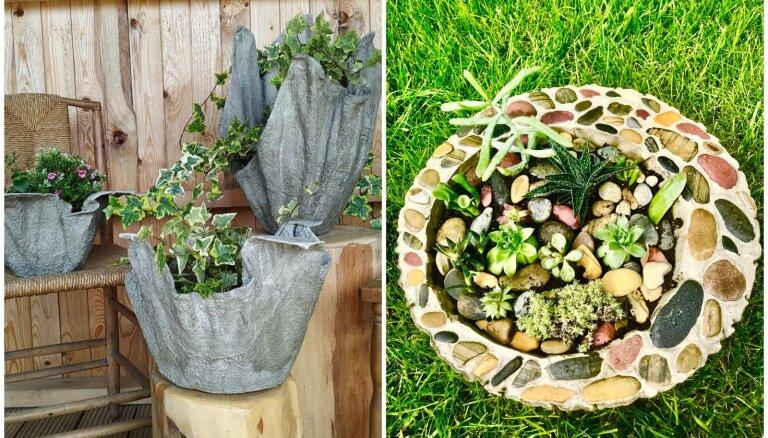 Paštaisīti podi un taciņas: idejas radošiem projektiem dārzā