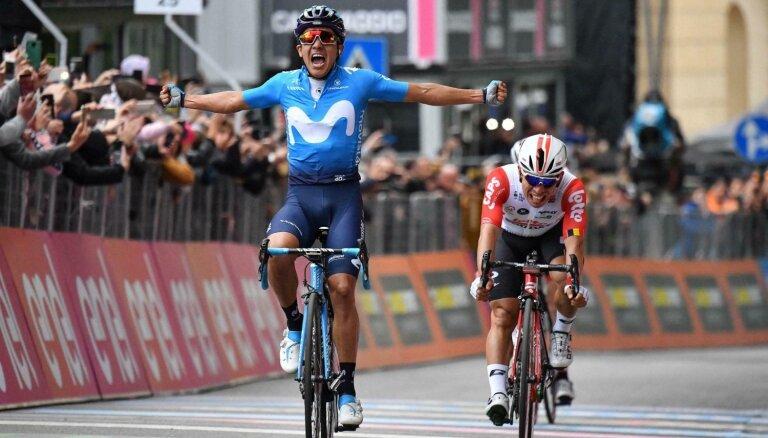 Kolumbietis Karapass uzvar 'Giro d'Italia' ceturtajā posmā; Rogličs palielina vadību kopvērtējumā