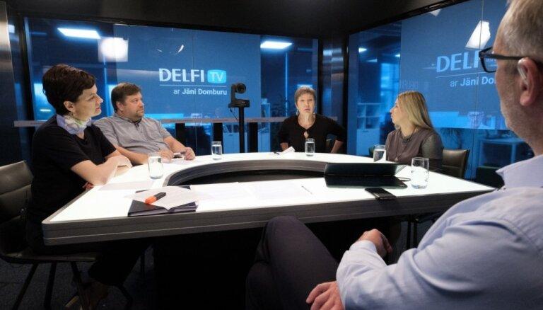 'Delfi TV ar Jāni Domburu' diskusija – ko sagaidām sociālajā aizsardzībā un demogrāfijā