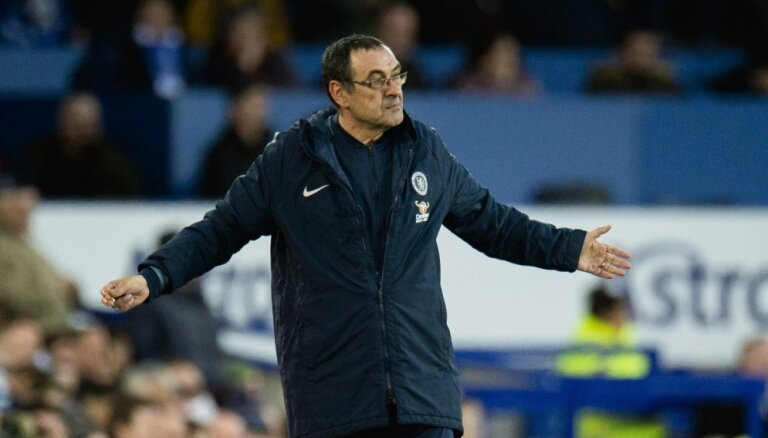 'Chelsea' galvenais treneris Sarri aicina apturēt mačus, ja tajos bijuši rasistiski aizvainojumi